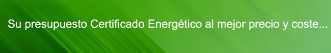 presupuesto certificado energetico coste