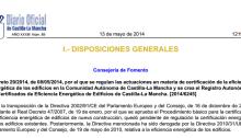 Decreto 29-2014 certificados energetico la mancha